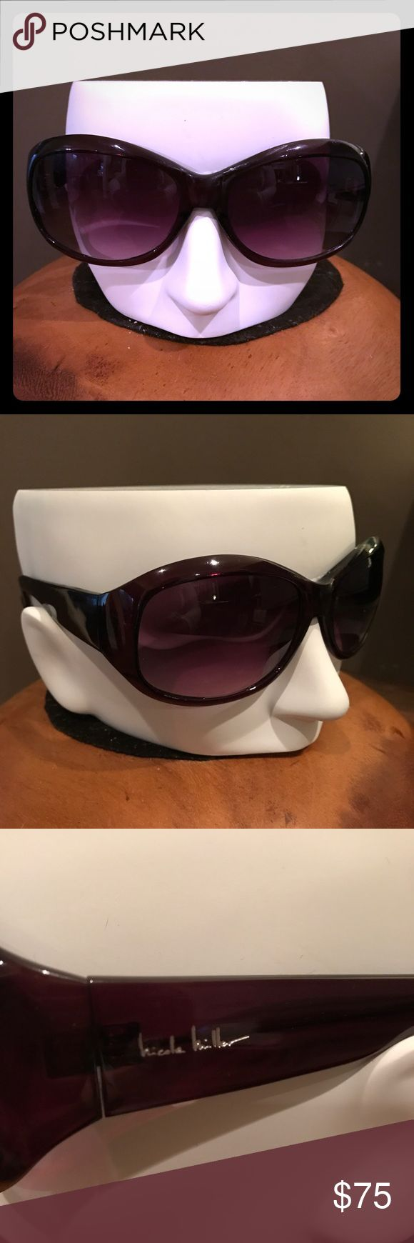 NWOT Nicole Miller Jackie O sunglasses Brand-new, never worn sunglasses from Nicole Miller. Jackie O style oversized brown gradient lenses. Dark brown frame with wide stems. Perfect condition. 100% authentic. Purchased directly from optical distributor. Will ship with soft cloth pouch. Nicole Miller Accessories Sunglasses