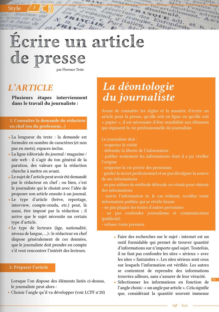 commentaire chemical n't write-up de presse