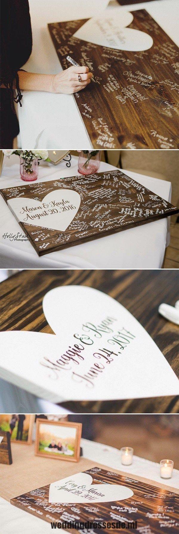 22 alternative Hochzeit Gästebuch rustikale Holz Gästebuch Hochzeit Dekor kreativ