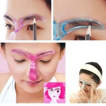 Eyebrow Stencils Shaping Grooming Eye Brow Make Up Model Template Reusable Design Eyebrows Styling Tool