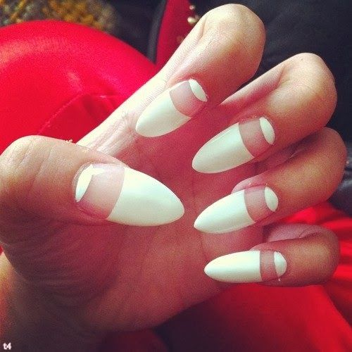 white nail art ideas 2014 | See more nail designs at http://www.nailsss.com/french-nails/2/