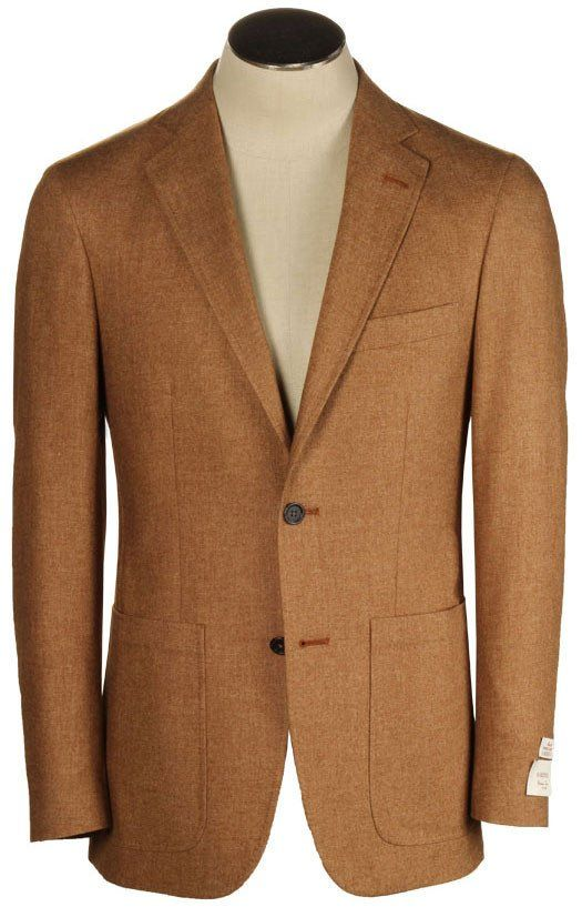 Tobacco Soft Coat - Wool, Cotton, & Cashmere Blend - Modern Bradley Fit - Made in USA -  Hardwick.com