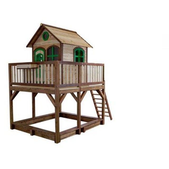 21 best Jardin- jeux enfants images on Pinterest Backyard ideas - Maisonnette En Bois Avec Bac A Sable