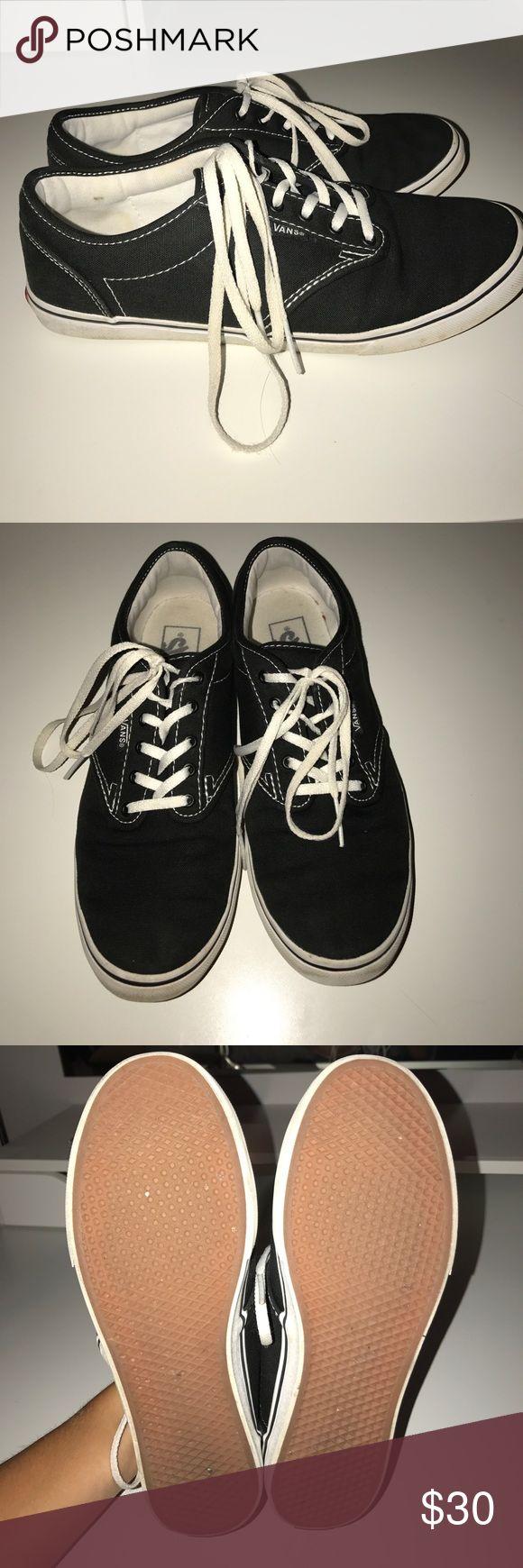 Women's black vans. Size 9. Used black vans. 8/10 condition. Vans Shoes Sneakers