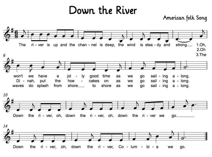 Down the River - folk song w/ dance