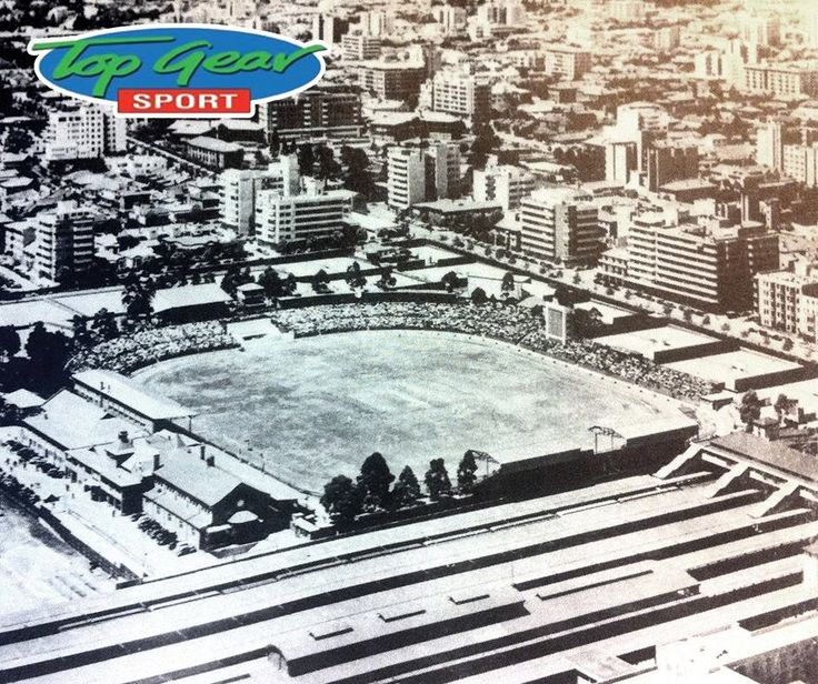 A photograph of the Wanderers Stadium in the year 1938. During that time it was situated in Hillbrow, Johannesburg. #TBT #TopGearSports #Wanderers
