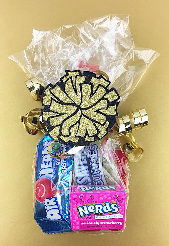 Cheer Pom Poms Cheerleader Pom Poms Cheer Gifts Cheer. Candy bag for cheerleaders. Cheer party favor. Cheer tryouts. #ad