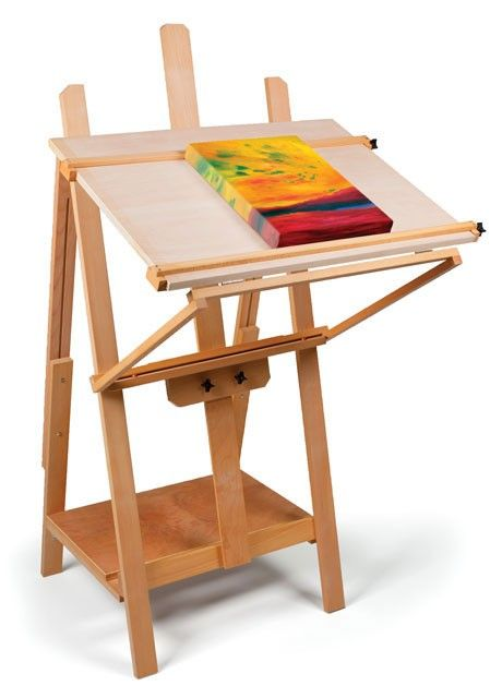 Best Artist Easel Images On Pinterest Easels Saw Horses And   Artist Table  Painting Desk