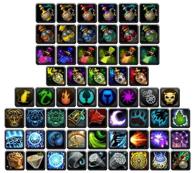 Various WoW:MoP icons 5