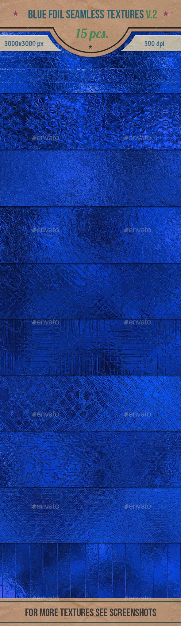 Blue Foil Seamless HD Textures Pack v.2 — Photoshop PSD #pattern #foil texture • Available here → https://graphicriver.net/item/blue-foil-seamless-hd-textures-pack-v2/13984496?ref=pxcr