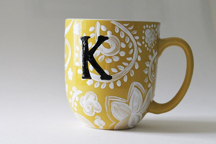 Anthropologie Inspired DIY Coffee Mug