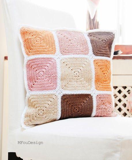 crochet pillowcase / szydełkowa poszewka na poduszkę ~ MFOUDESIGN - HANDMADE by Magda Fou