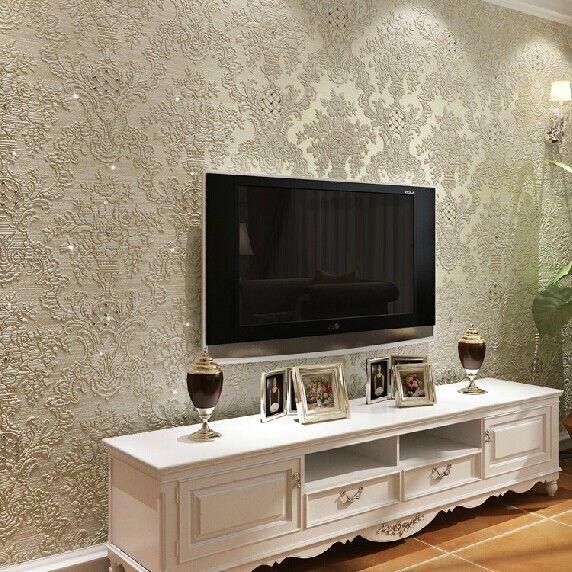 Revestimento parede 3d pesquisa google casa for Sala de estar com papel de parede 3d