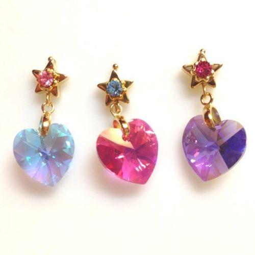 魔法少女のピアス heart crystals