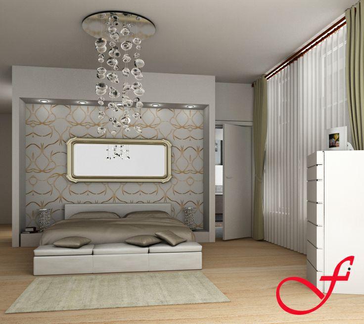 Soluzione n.1 della camera da letto www.feniceinteriors.it