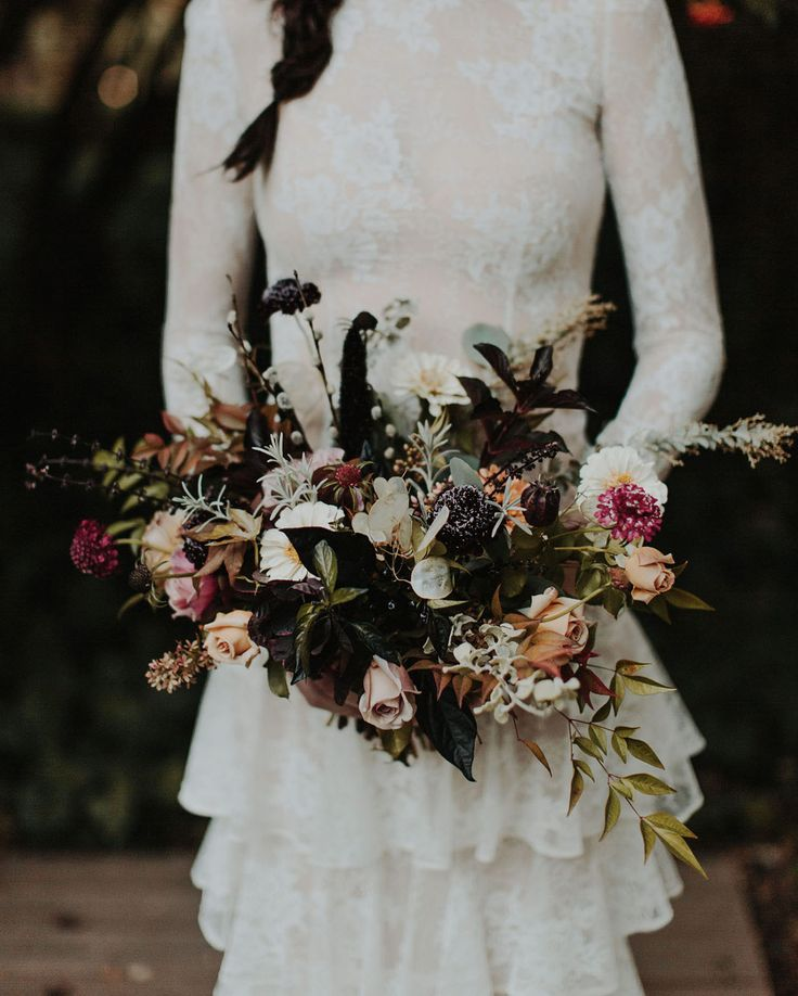 Dark, gothic and fall inspired bouquet