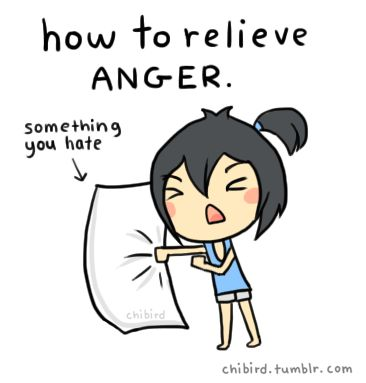 I'm not angry. ^^ This also works for sadness, stress, and frustration.