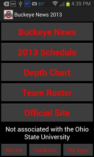 Ohio State Football Roster 2013 | View bigger - Ohio State Football 2013 for Android screenshot