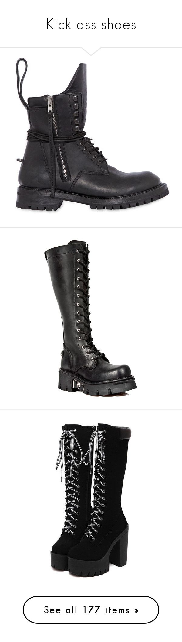 """""""Kick ass shoes"""" by plague-doc ❤ liked on Polyvore featuring men's fashion, men's shoes, men's boots, shoes, men, boots, footwear, black, mens side zip boots and mens army boots"""