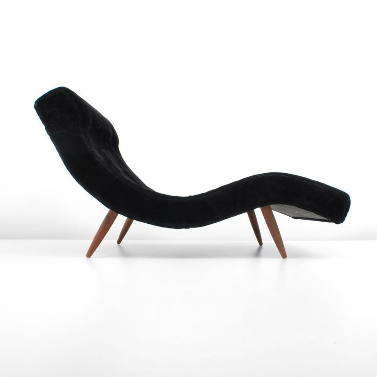 Adrian pearsall wave chaise lounge chair c 1960 s i t for Chaise longue wave