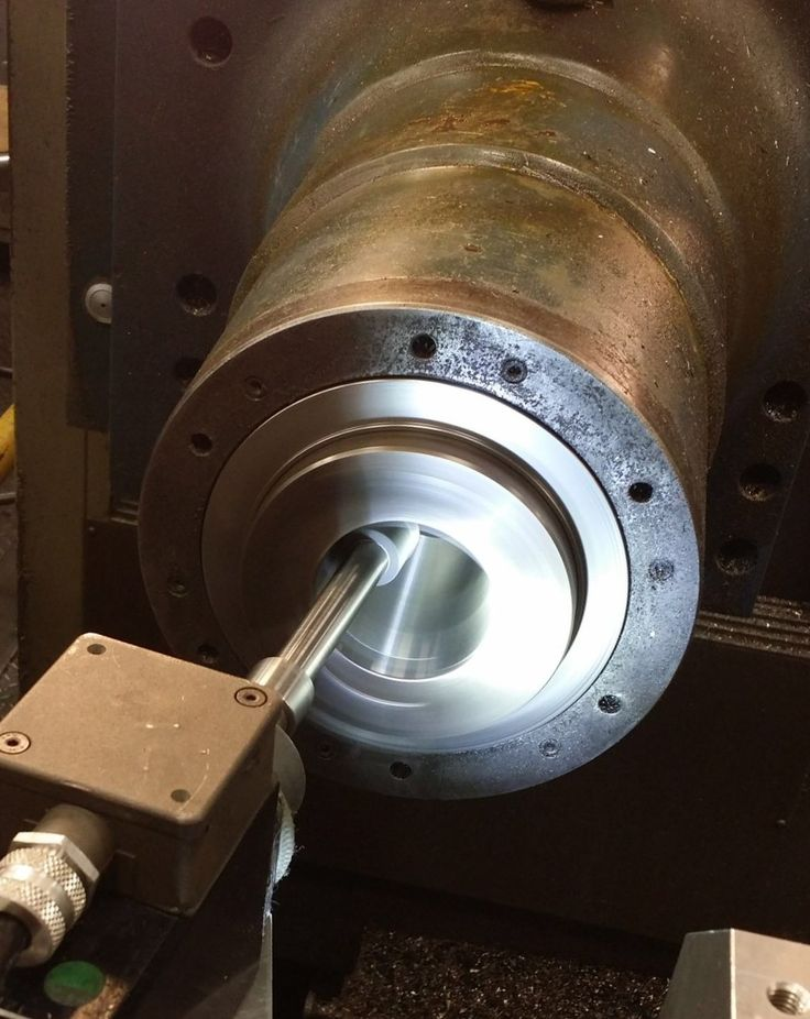 Grinding a NMTB 50 taper on-site in OH today.  Call if you need this service.  866.868.6761. #onsitetapergrinding