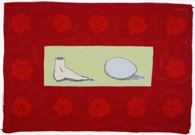 Laura Garanzuay,  Innocencia, 1995,  Screenprint, #LatinoArt #MexicanAmericanArt #serigraphy #printmaking