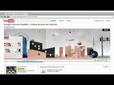 Google Chrome fastball - YouTube