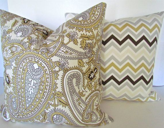 THROW PILLOW Covers SET Of 2 Grey 20x20 by SayItWithPillows, $35.95