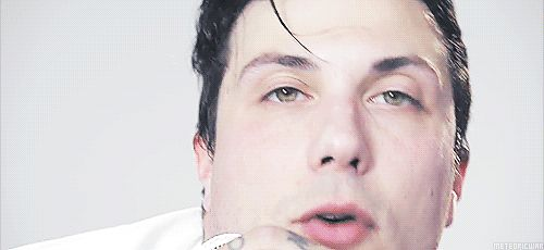 Frank Iero Fnkiero andthe Cellabration Stomachaches Joyriding  His eyes are so perfect!! ♫ ♪ ♫ ♫