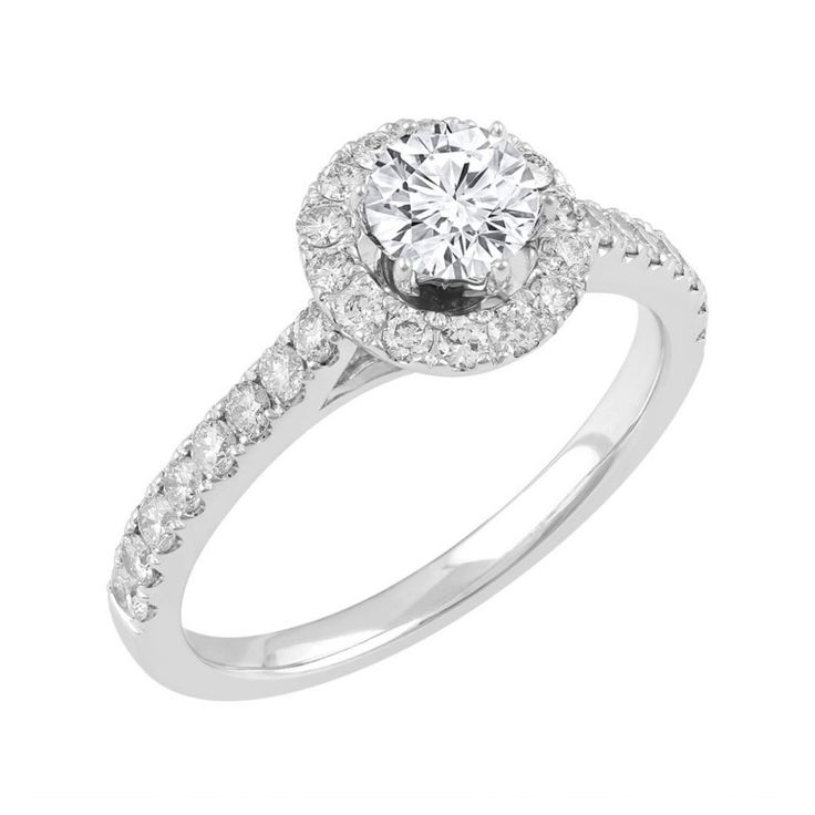 Love by Michelle Beville 18ct White Gold 1.18ct of Diamond Solitaire Ring. Available in stores or online - 9B34010