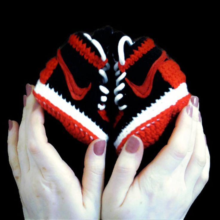 Air Jordan Baby Crochet Sneakers Nike Air Jordan Shoes Red