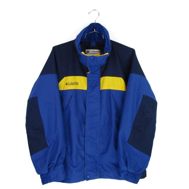 Columbia Jacket Large Mens L Winter Interchange Boulder Ridge Coat Shell Ski  #Columbia #BasicJacket