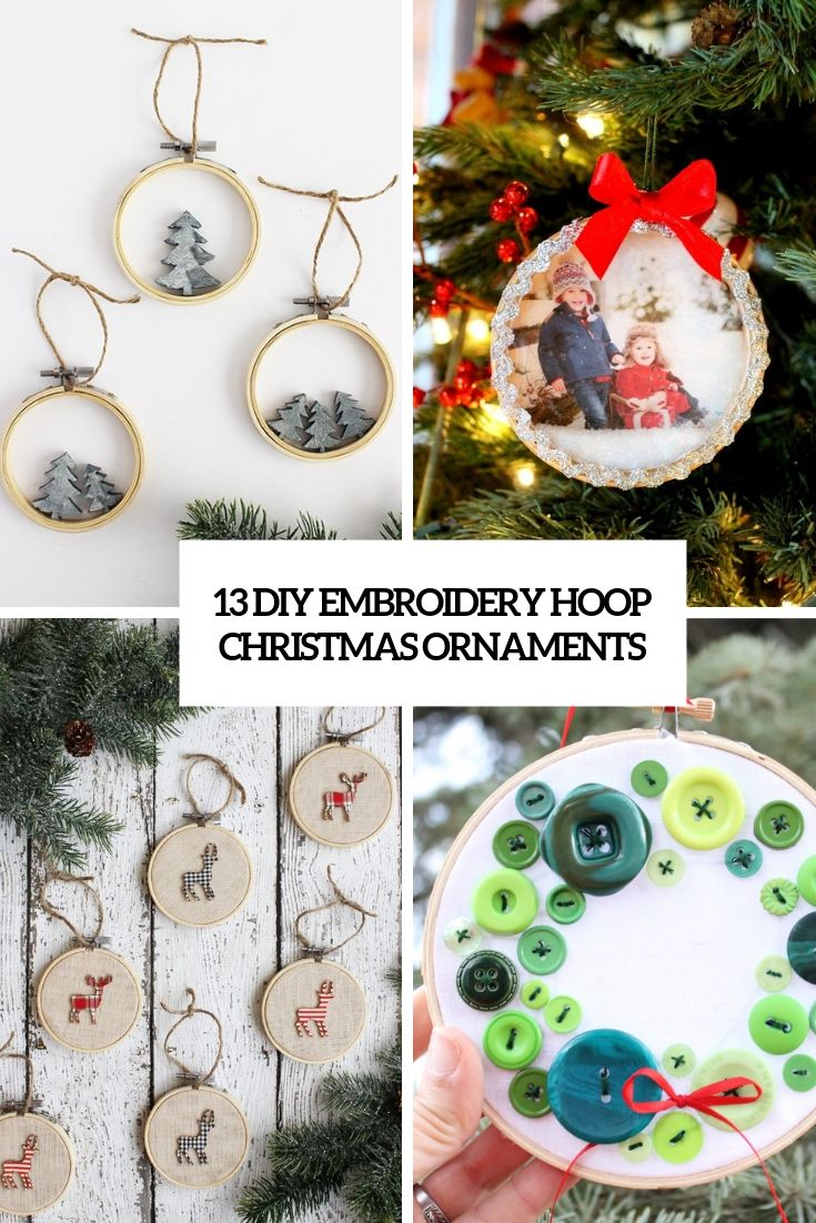 Diy Embroidery Hoop Christmas Ornaments Cover Diy Christmas Tree Ornaments Rustic Christmas Ornaments How To Make Ornaments
