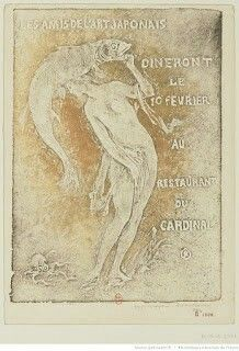Invitation for the February 10, 1911 Meeting by Pierre Roche  Courtesy of the Bibliothèque Nationale de France  (color gypsograph print)