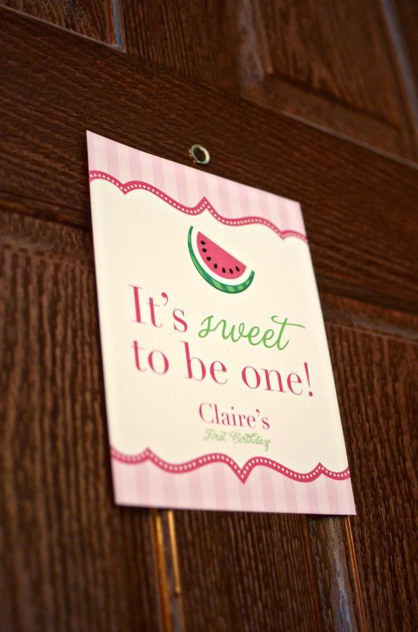 1st Birthday – Girl - Kara's Party Ideas Do maybe with a peach instead
