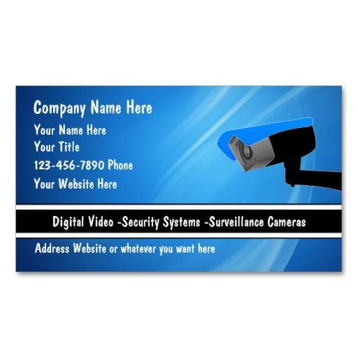 183 best Security Business Cards images on Pinterest Business - name card example