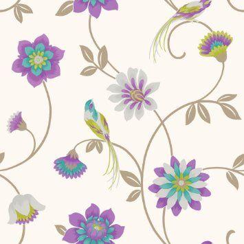Fine decor eden papel pintado dise o con ilustraci n de for Papeles murales con diseno de paisajes