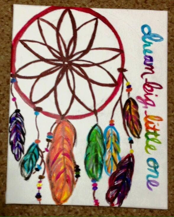 Dream Big, Little One Dream Catcher Canvas by JMBspecialties on Etsy