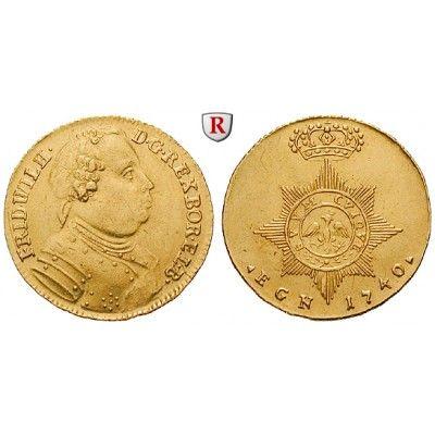 Brandenburg-Preussen, Königreich Preussen, Friedrich Wilhelm I., Dukat 1740, ss-vz: Friedrich Wilhelm I. 1713-1740. Dukat 1740… #coins