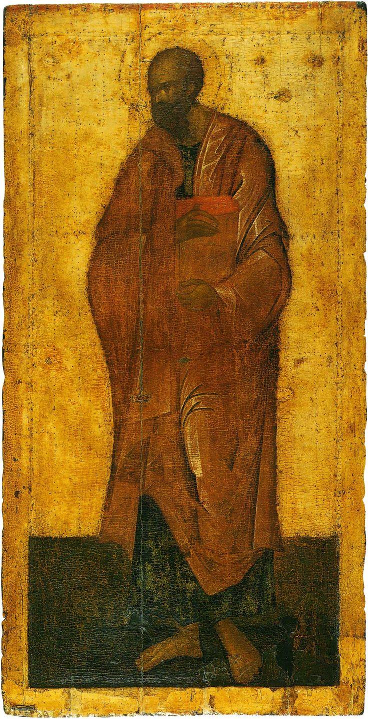 Апостол Павел, деисусный чин Благовещенского собора Московского кремля, главный мастер грек (возможно Феофан Грек), послед. четв. 14 в.