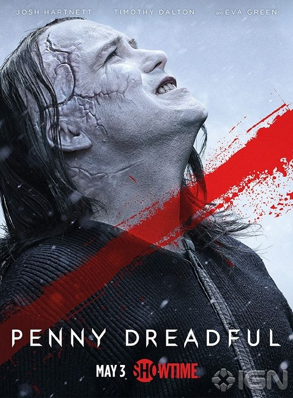 Check out two new posters for Penny Dreadful: Season 2, as Frankenstein and his Creature return.