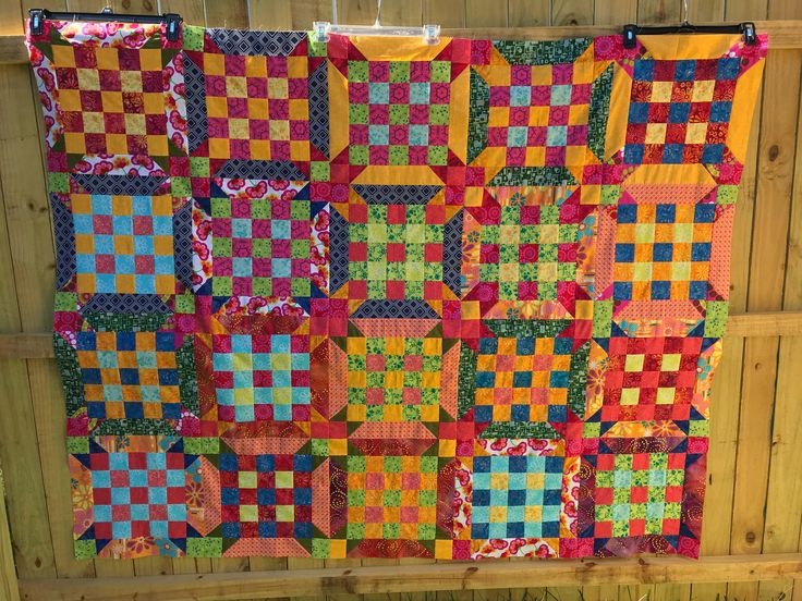 Scrappy Quilt, Quilts for Sale, Quilt Top Unfinished, Patchwork Quilt, Quilt Top, Quilt Top For Sale, Unfinished Quilt Top, Quilt Handmade by HappyGoQuilting on Etsy