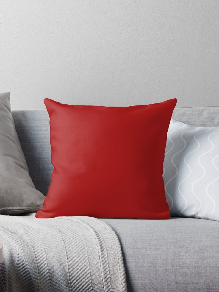 'Juicy Cranberry' Throw Pillow by Moonshine Paradise #cranberry #pantone #design #art #decor