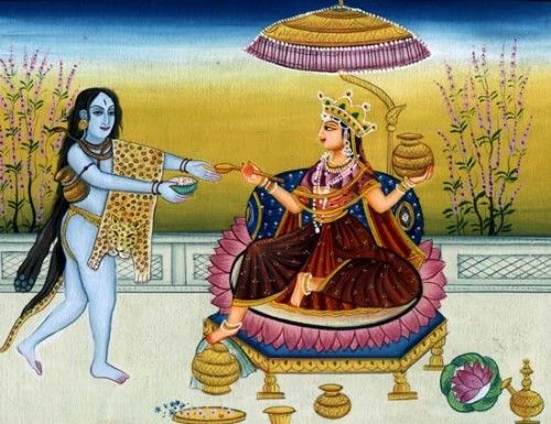 ANNAPOOMA...is the Hindu Goddess of food and nourishment.