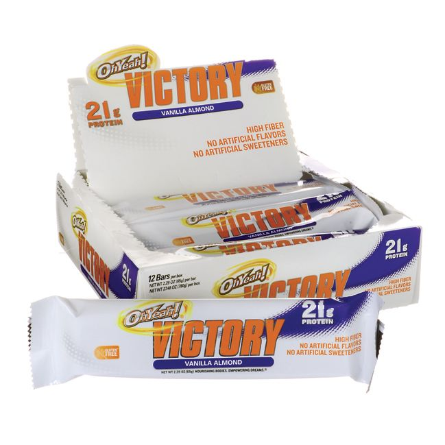 OhYeah Victory Bars  Vanilla Almond, 21 grams 12 / 2.29 oz Bar(s) AED329.00 #UAESupplements