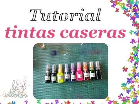 Tutorial: Tintas en spray caseras (homemade spray inks) …