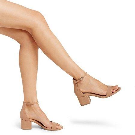 Women's Marcella Low Block Heel Pumps with Ankle Straps - Merona™ : Target
