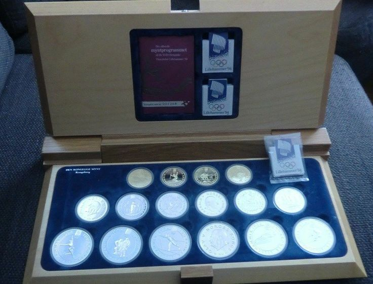 SOLD! SOLD! SOLD! ------------  NORWAY Lillehammer Olympic Games 1994  gold/silver coins in orginal wooden box !