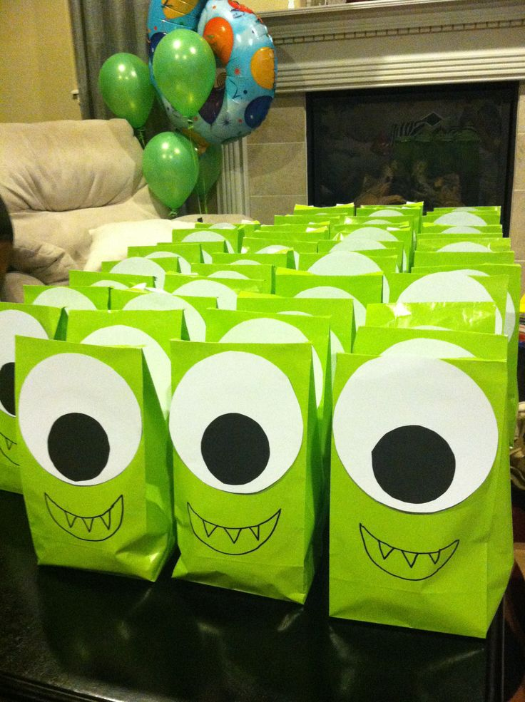 Monsters Party bags (picture only, nothing to follow)