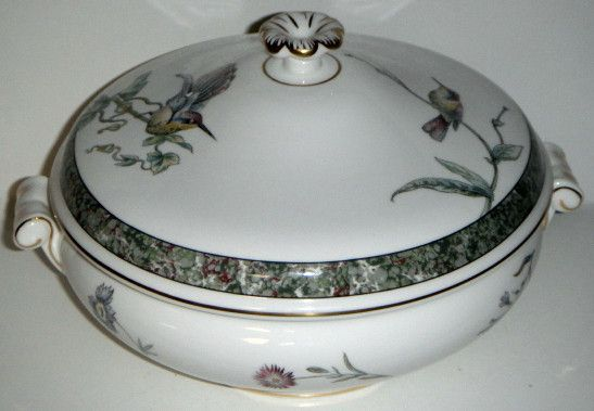 Wedgwood Humming Birds Round Covered Vegetable